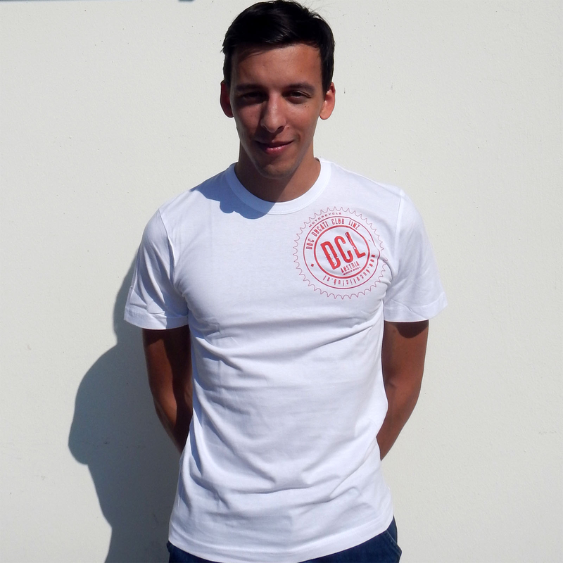 Herren T-Shirt, Logo links oben (rot)